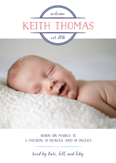birth announcements - Nautical Newborn by Ever Upward Studio