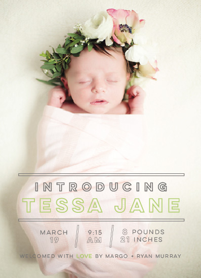 birth announcements - Modern Stats by Nicolette Myslinski