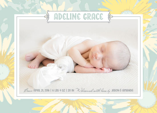 birth announcements - Little Blossom by Carrie Hendrix