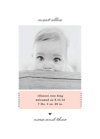 birth announcements - Simple Love by Jennifer Postorino