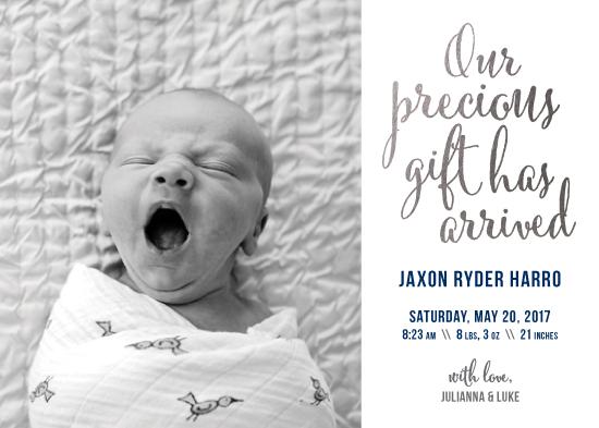 birth announcements - Our Precious Gift by Jenna Pellman Design