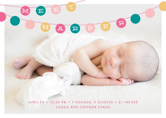 birth announcements - Grand Garland by Ever Upward Studio