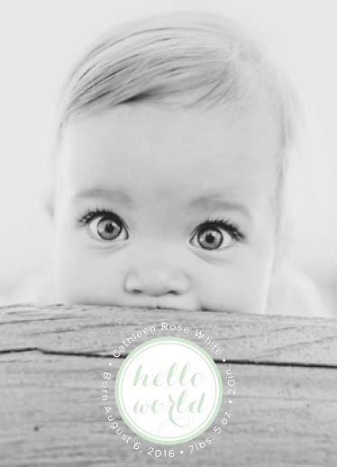 birth announcements - baby I'm yours by Brady Dolan