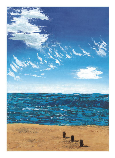 art prints - Beach Posts by ArtbyPunam
