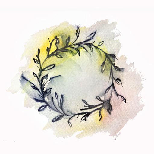 art prints - Circlet of Flowers by Jennifer Sanders