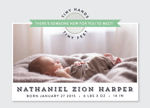birth announcements - Tiny Hands Tiny Feet by Cindy Kim