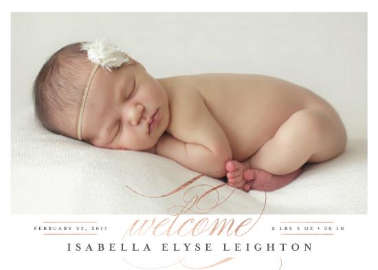 birth announcements - Delicate by Jessica Williams