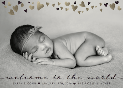 birth announcements - Welcome Little One by Danielle Dorton