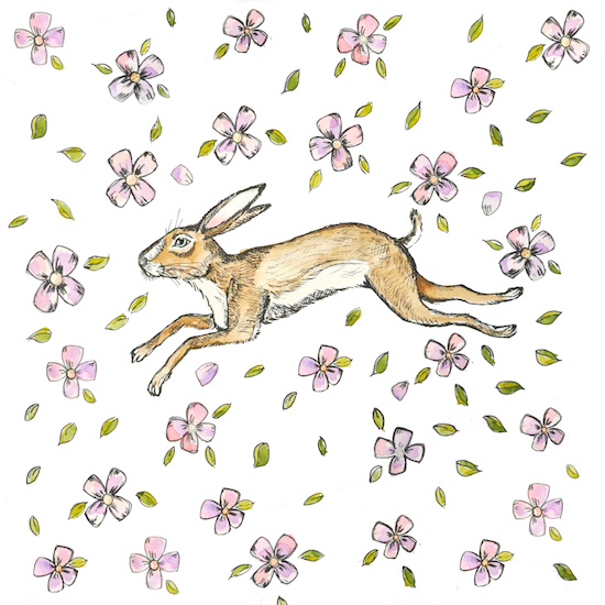 art prints - Springtime hare by Jennifer Rizzo
