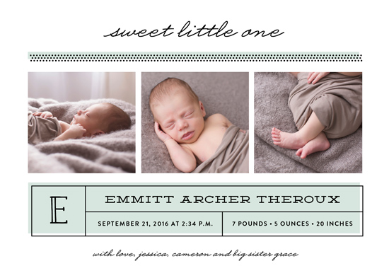 birth announcements - Sweet Little One by Erica Krystek