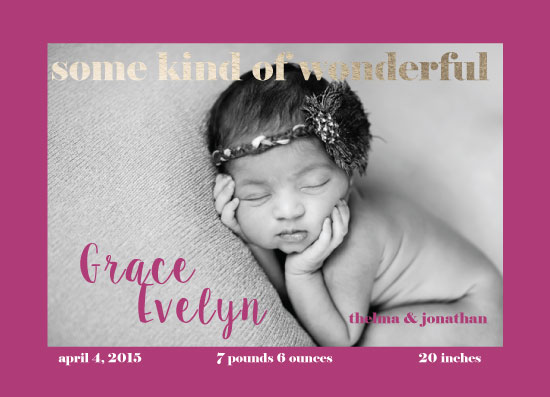 birth announcements - some kind of wonderful by frolic