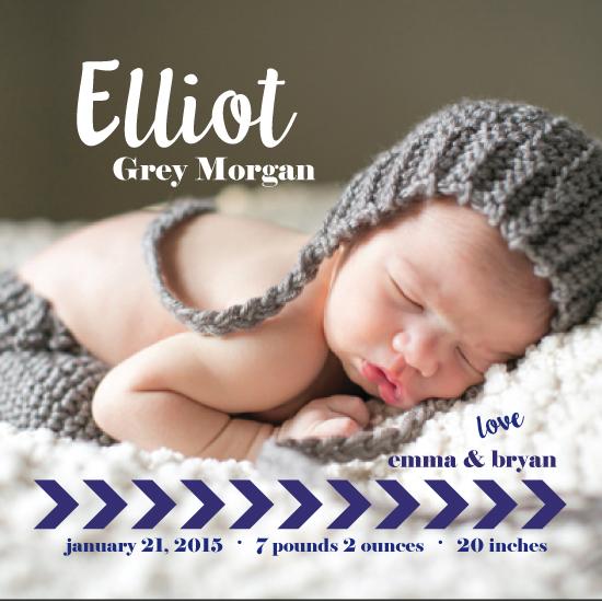 birth announcements - Elliot Grey by frolic