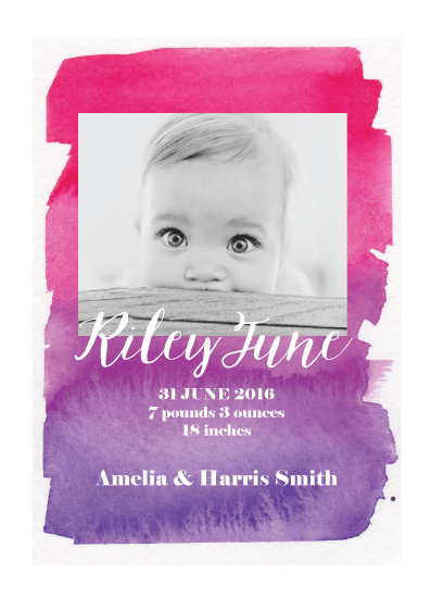 birth announcements - Riley June by frolic