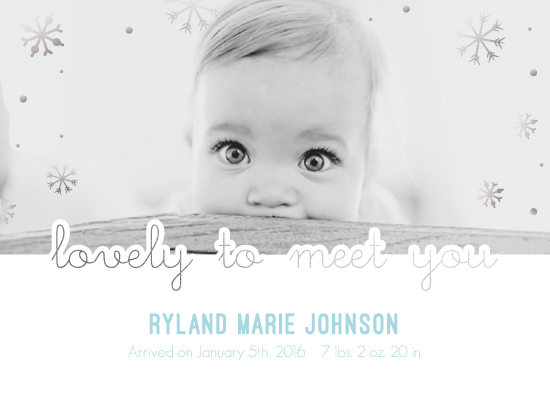 birth announcements - lovely to meet you by Alice Gold