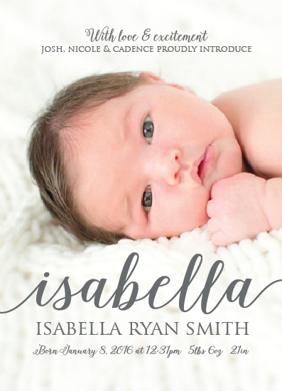 birth announcements - Beautiful name by Nici Emel