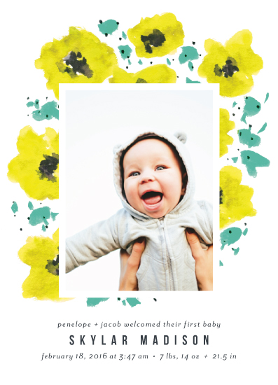 birth announcements - Beloved Blossoms by Simona Camp