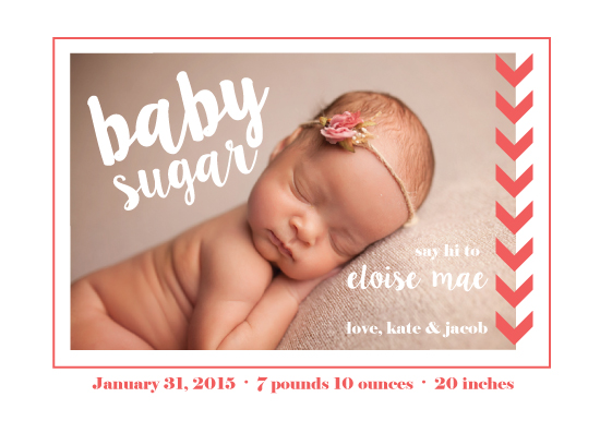 birth announcements - baby sugar by frolic