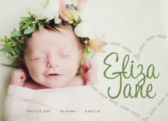 birth announcements - Simply Love by Brynn Eenigenburg