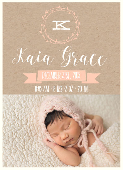 birth announcements - Simple Sweet by Caili