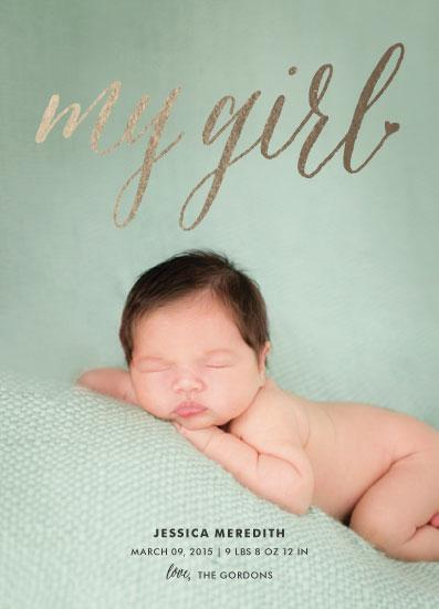 birth announcements - my girl by heythird