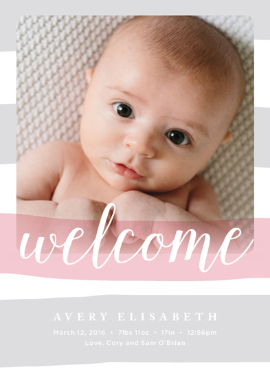 birth announcements - Sweet Stripes by Amy Harmon