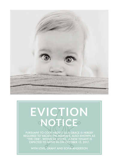 birth announcements - Eviction Notice by Brandy Folse
