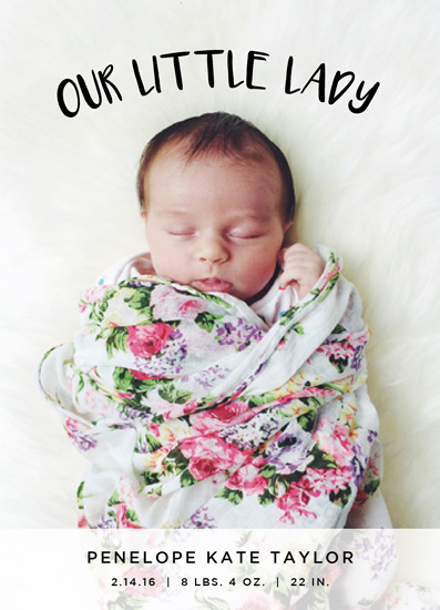 birth announcements - Our Little Lady by Christine Taylor