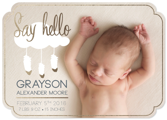 birth announcements - Dreamy Hello by Angelique St. Jacques