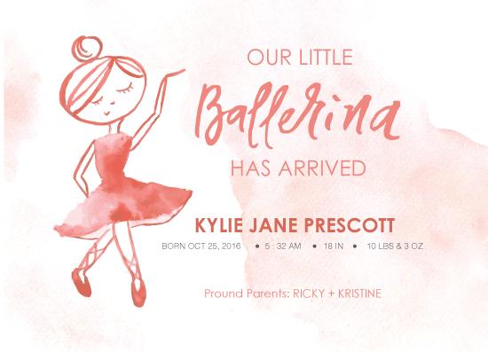 birth announcements - Little Ballerina by The Artist Scientist