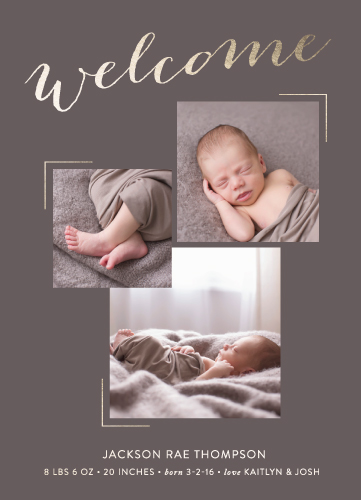 birth announcements - Golden Welcome by Andrea Castek