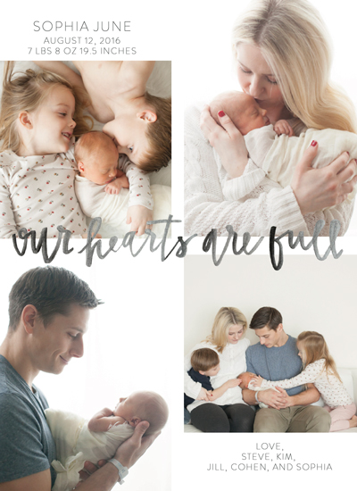 birth announcements - Our Hearts by Annie Montgomery