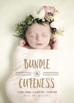 birth announcements - Bundle of Cuteness by Danielle Dorton