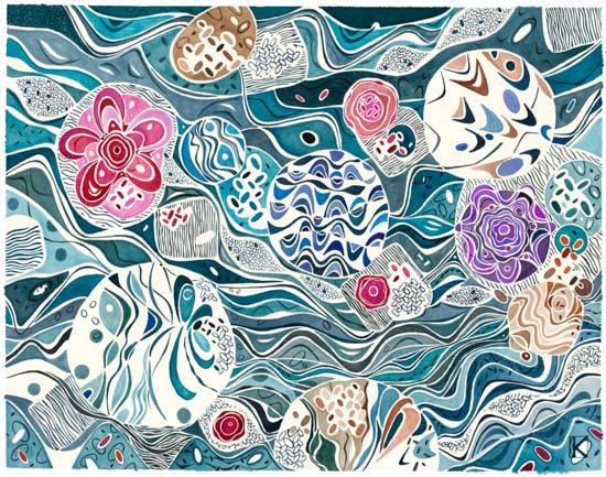 art prints - Nautica Blue by Katalin Klecz
