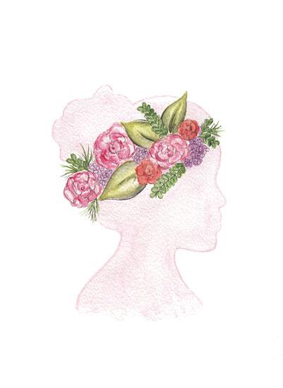 art prints - Floral Silhouette by Rachel Bartunek