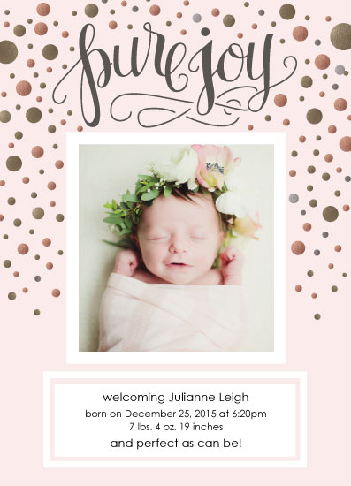 birth announcements - Pure Holiday Joy by Rachel Bartunek