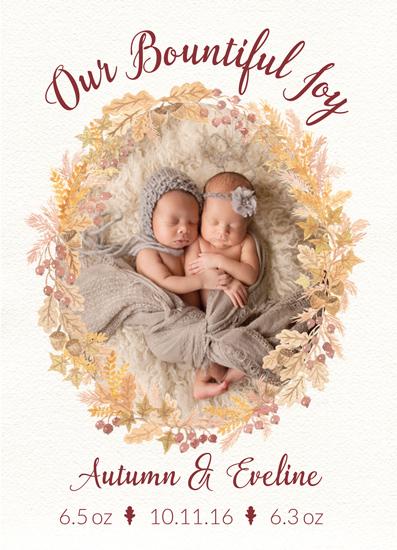 birth announcements - Our Bountiful Harvest of Joy by Elizabeth Kelly