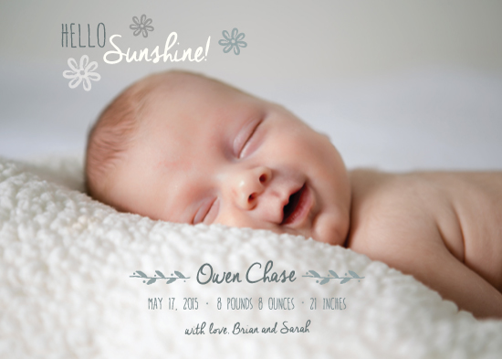 birth announcements - Classic Hello Sunshine! by Jolene Heckman