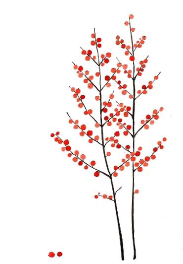 art prints - Berry Branches by Birgitte Els-Schleuder