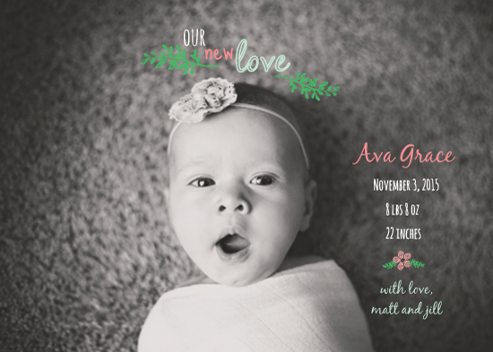 birth announcements - Classic New Love by Jolene Heckman