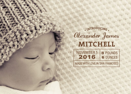 birth announcements - Made with Love Lable by Laura Rodil