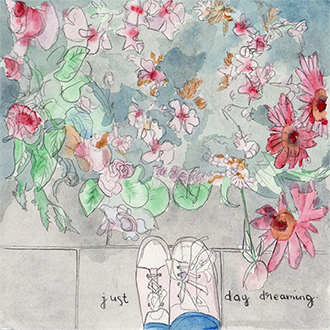 art prints - Just Day Dreaming by Helene Vienna