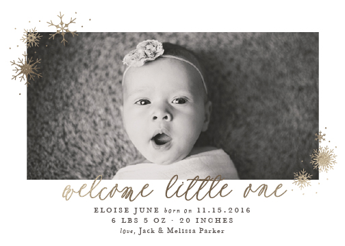 birth announcements - Little Snowflake by Sarah Brown