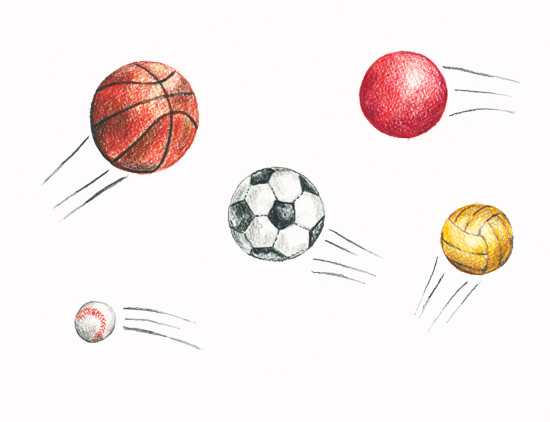 art prints - Sports by Rebecca Harrick