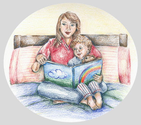 art prints - Storytime by Rebecca Harrick