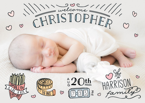 birth announcements - Baby Stats by Christina Novak