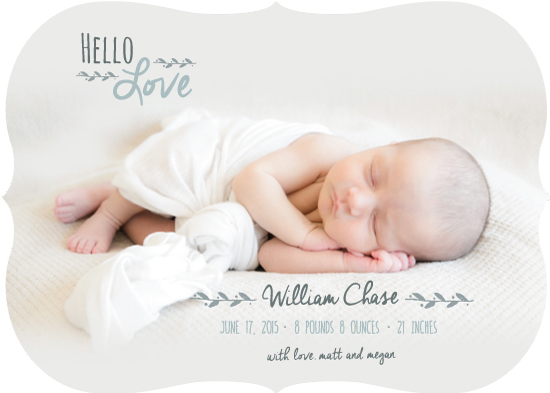 birth announcements - Classic Hello Love by Jolene Heckman