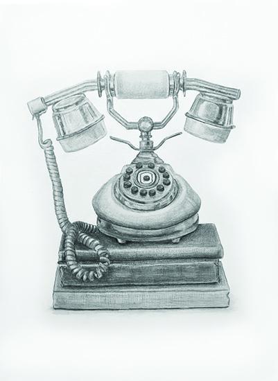 art prints - Vintage Telephone by Lauren Weiss