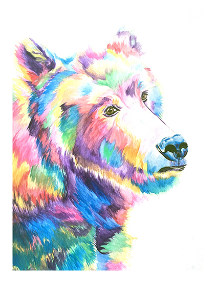 art prints - Beary Colorful by Lauren Wright