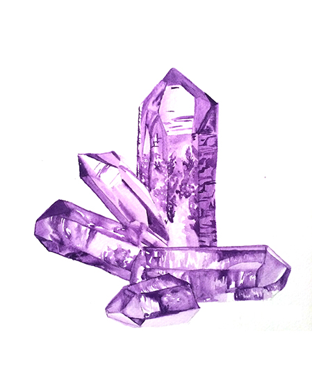 art prints - Healing Amethyst by Lauren Wright