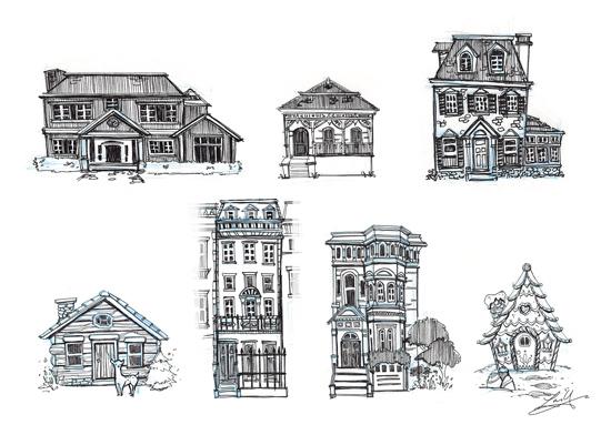 art prints - houses worth living in by Lorraine Yee